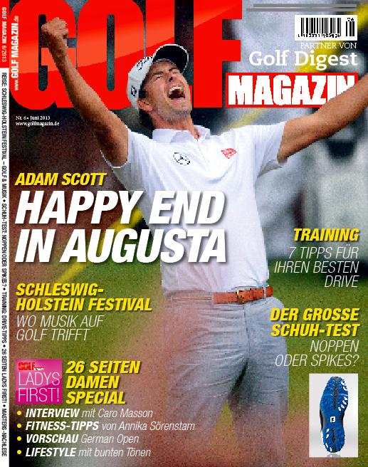 Juni 2013 – ab dem 22. Mai in Ihrem Fachzeitschriftenhandel!: Adam Scott: Happy End in Augusta
