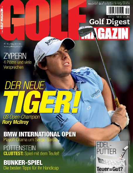 Nr. 8 August 2011: Der neue US Open-Sieger heißt Rory McIlroy.