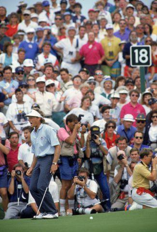 September 1991, Kiawah Island, letztes Grün im letzten Flight des Ryder Cups: Bernhard Langer verschiebt den 1,80-Meter-Putt zum Sieg über Hale Irwin hauchdünn. Das Match wird geteilt, die Amerikaner holen sich den Cup mit 14,5:13,5 Punkten zurück.
