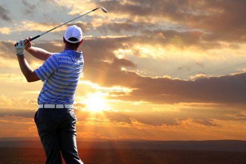 Foto von einem Golfer