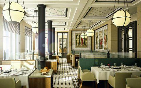 Das Tarragon ist eines von sieben Restaurants auf der EUROPA 2. Sogar eine hochmodern ausgestattete Kochschule gibt es an Bord.