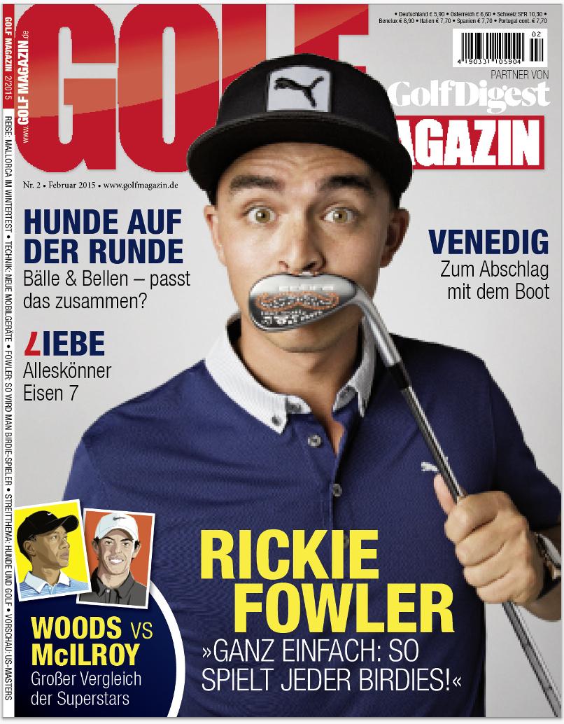 Februar 2015 – ab dem 28. Januar am Kiosk!: Rickie Fowler
