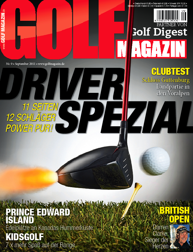 Nr. 9 September 2011: Das GOLF MAGAZIN Driver-Spezial (ab dem 17. August am Kiosk)