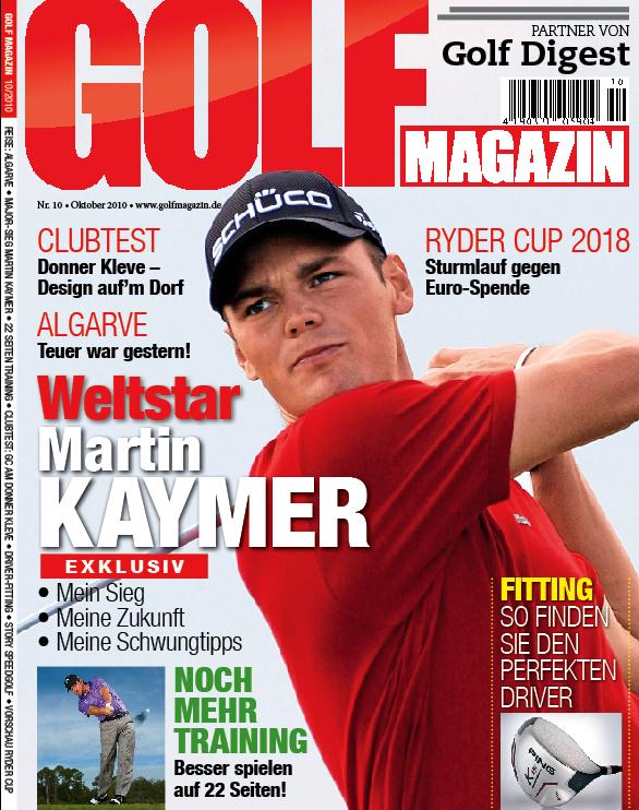 Nr. 10 Oktober 2010 – erscheint am 22. September: Martin Kaymer exklusiv  mein Sieg