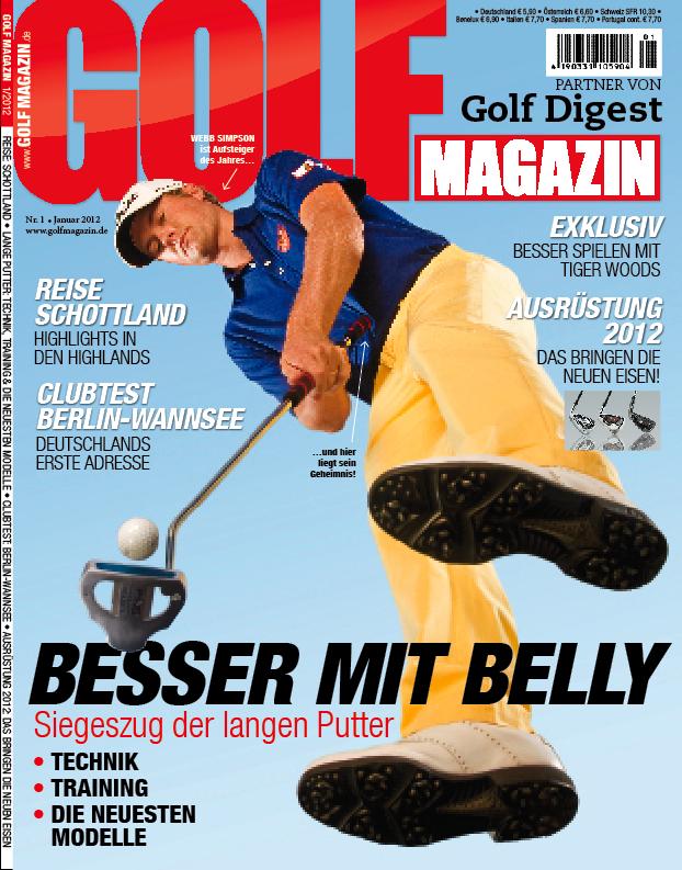 Nr. 01 Januar 2012 – ab dem 14.12. bei Ihrem Fachzeitschriftenhandel!: Besser mit Belly – Siegeszug der langen Putter