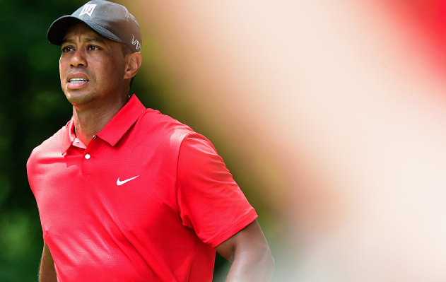 Tiger Woods in rot