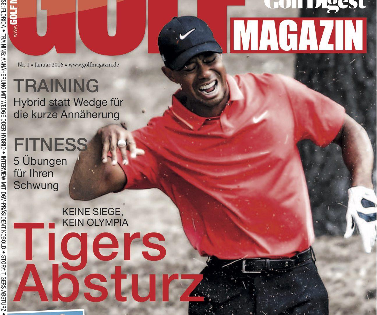 GOLF MAGAZIN Januar-Ausgabe