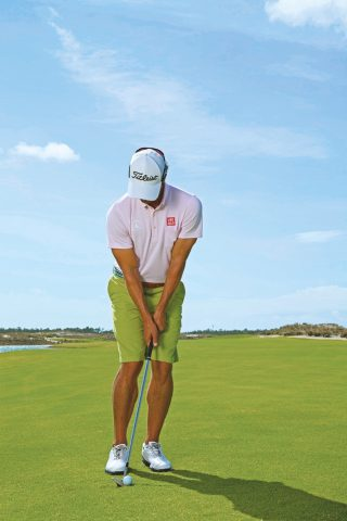 Adam Scott photographed at Albany resort in Nassau, Bahamas on April 29, 2013. Photograph by Walter Iooss Jr.