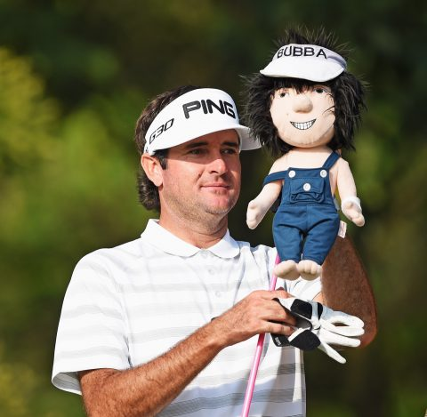 SHENZHEN, CHINA - APRIL 17: Bubba Watson of USA removes his head cover off of his driver during the second round of the Shenzhen International at Genzon Golf Club on April 17, 2015 in Shenzhen, China. (Photo by Stuart Franklin/Getty Images)