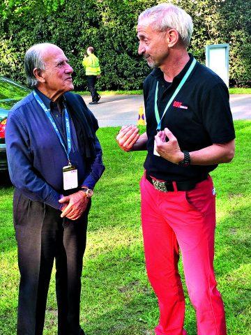 Franco Chimenti ist Präsident des Italienischen Golfverban-des, nahm sich in Wentworth viel Zeit für Detlef Hennies (r.).