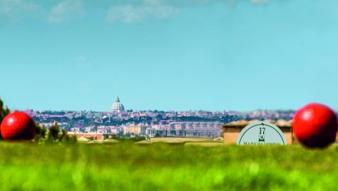 Im Marco Simone Golf Club steigt der Ryder Cup 2022. Die gesamte Anlage wird noch aufwändig umgebaut; der Blick zum Petersdom aber wird bleiben.