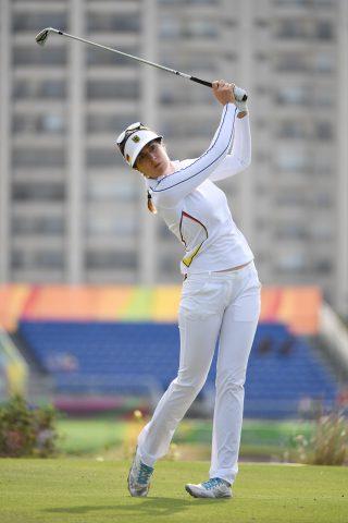 Sandra Gal kommt auf einen geteilten 25. Rang.