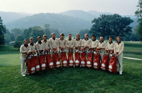 Das europäische Ryder Cup Team von 1979.