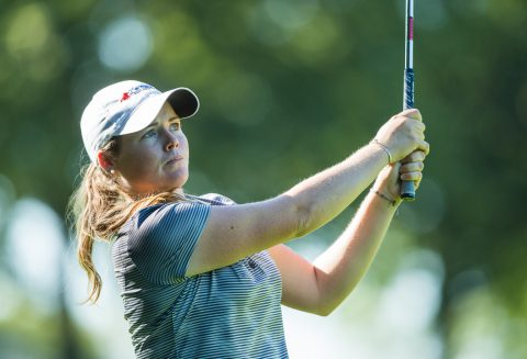 09/09/2016 Ladies European Tour 2016: ISPS HANDA Ladies European Masters, Golf Club Hubbelrath, Dusseldorf 8-11 September. Katie Burnett of the USA during the second round. Credit: Tristan Jones