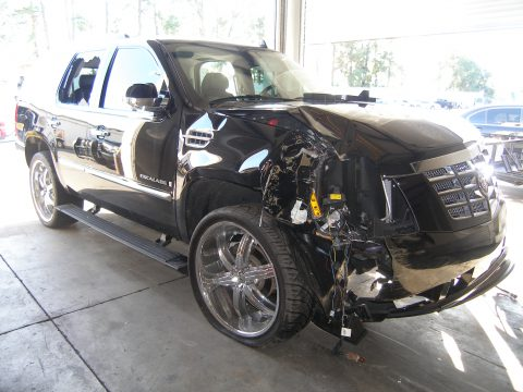 ORLANDO, FL - DECEMBER 02: In this handout photo provided by The Florida Highway Patrol, the vehicle driven by Tiger Woods during his accident is seen on December 2, 2009 in Orlando, Florida. Woods crashed the SUV into the fire hydrant and tree next to his Florida home in the early hours of November 27. FHP charged Woods with careless driving which carries a $164 fine and four points on his driving record. Woods released a statement on his website saying, 'I have let my family down and I regret those transgressions with all of my heart.'. (Photo by Florida Highway Patrol via Getty Images)