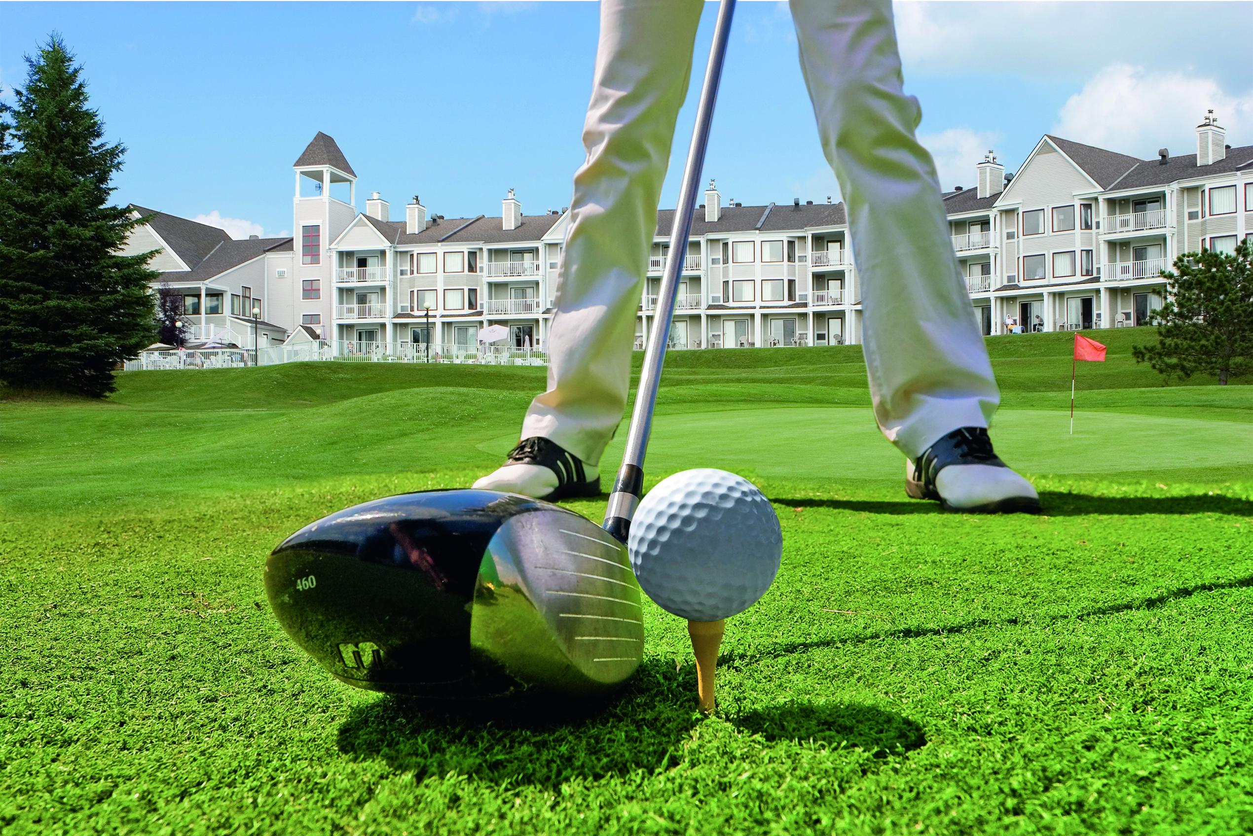 Solitär Auf Dem Golfplatz