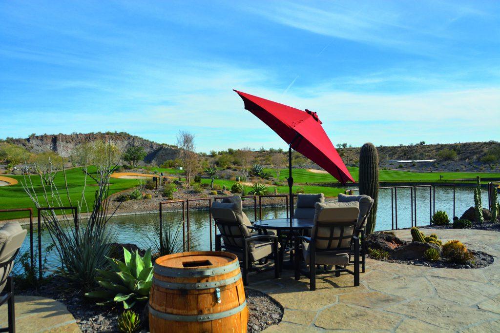 Wickenburg Ranch. Musikbeschallung auf dem Golfplatz ist auf Golfplätzen in Amerika völlig normal. Foto: I.v.Wilcke.