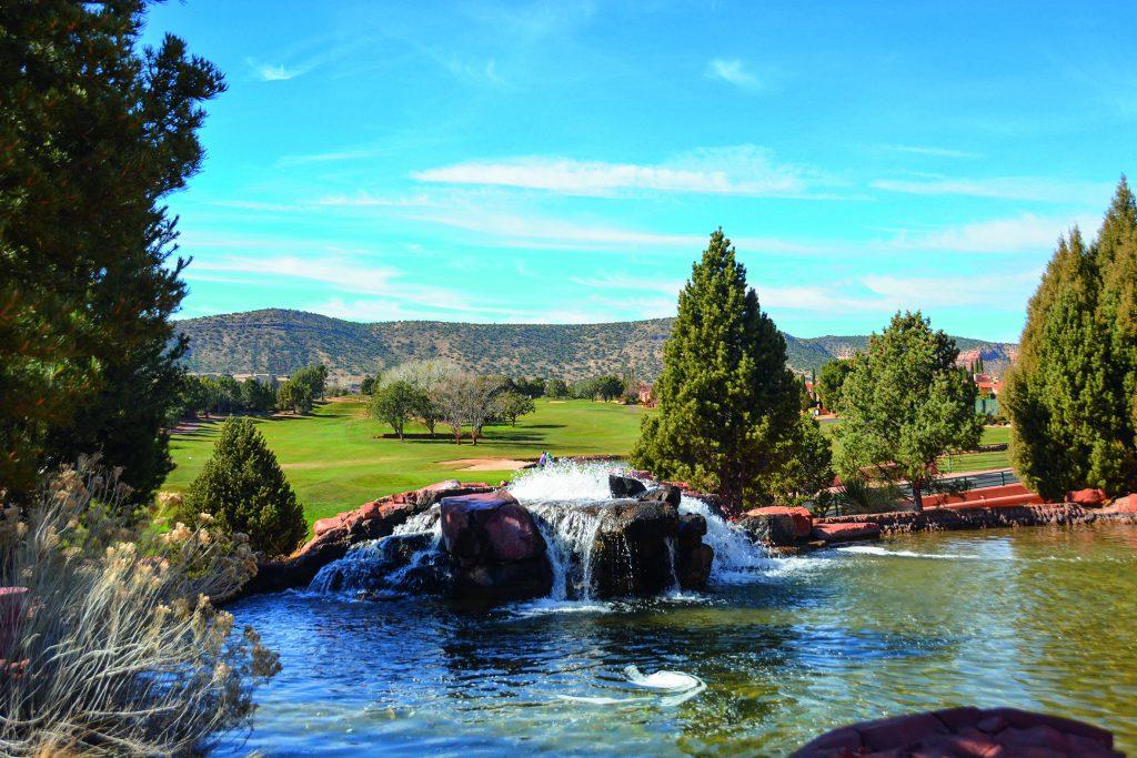Blick vom Clubhaus Richtung Bahn 1 vom Sedona Golf Resort in Arizona. Foto: I.v.Wilcke