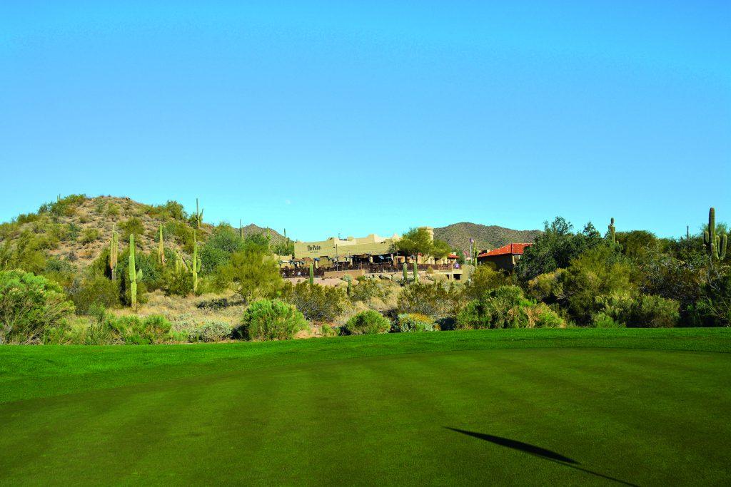 Idyllisch eingebettet in die Umgebung liegt das Clubhaus von Las Sendas. Foto:I.v.Wilcke