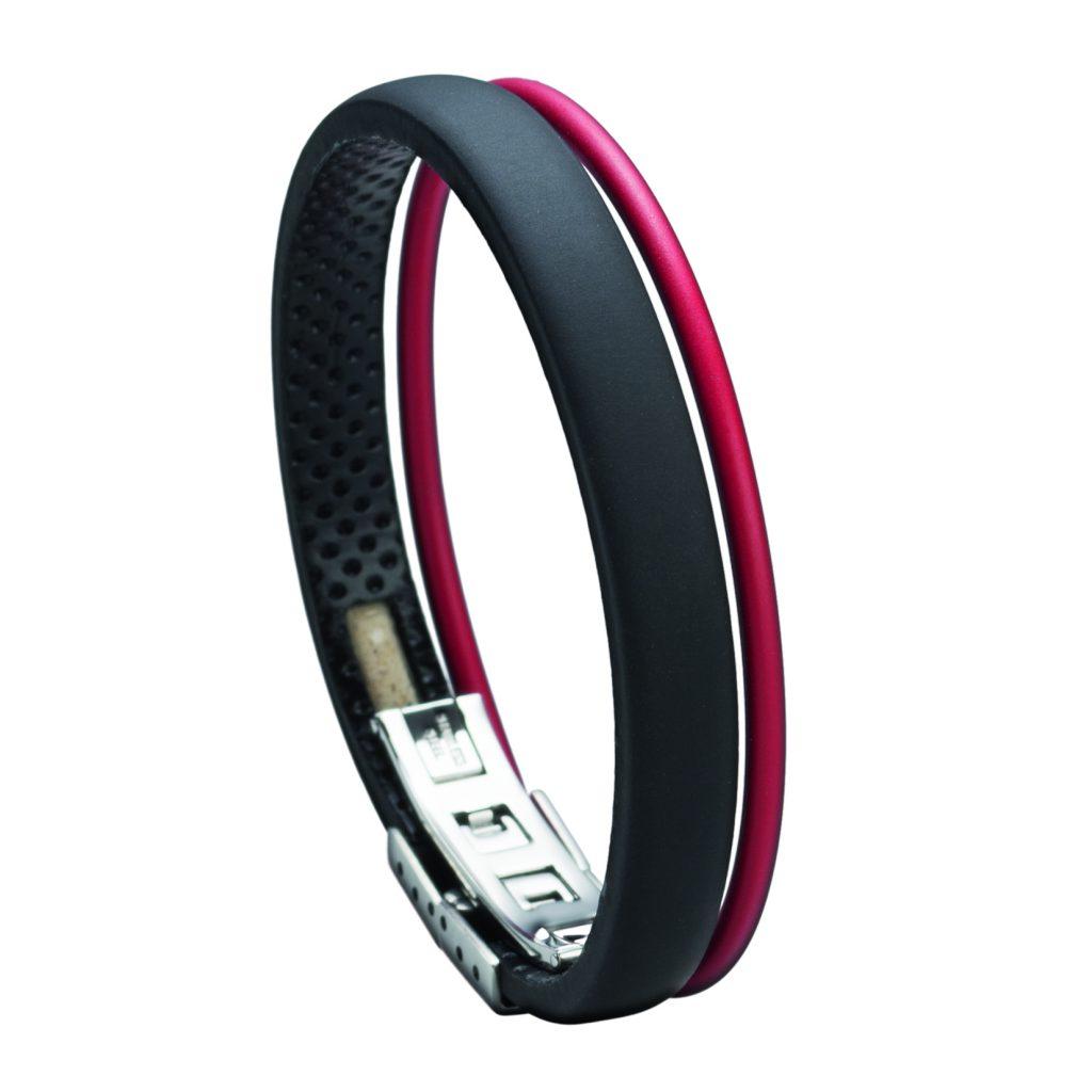 Wendestein Golf Armband schwarz-rot