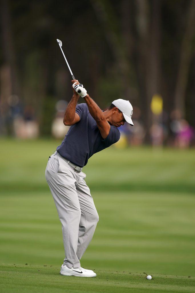 Der neue Golfschwung von Tiger Woods (Foto: Getty Images).