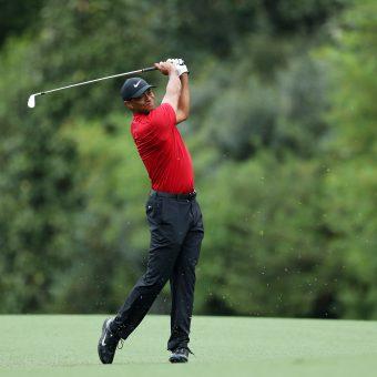 Der Golfschwung von Tiger Woods. Beim Masters 2019.