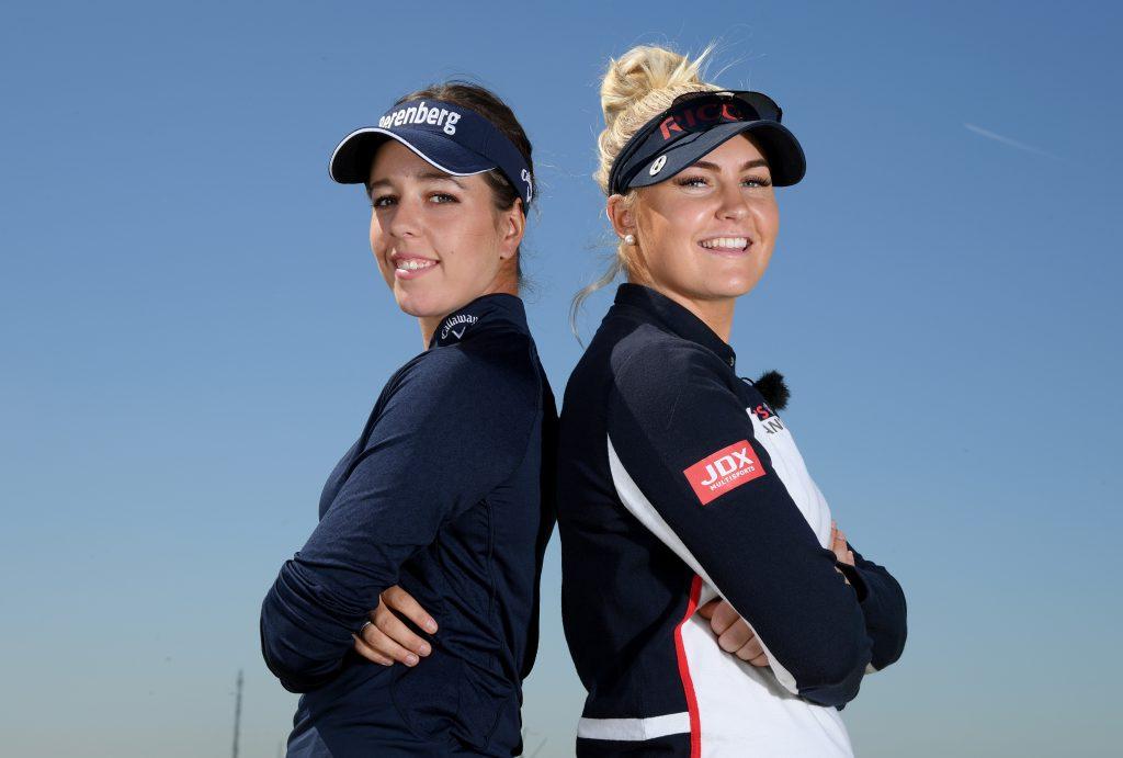 Ein starkes Duo für den Solheim Cup 2019 – Georgia Hall und Charley Hull (beide aus England). Hier bei Golf Sixes 2018. (Foto: Getty Images).