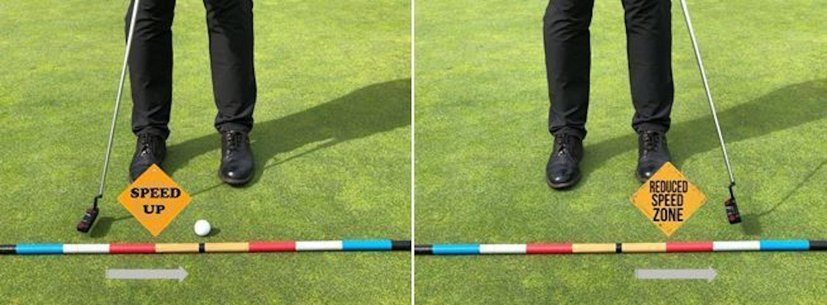Die richtige Geschwindigkeit ist auf den Grüns das A und O. Dazu sollte der Rückschwung und der Durchschwung möglichst identisch sein.