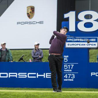 Robert MacIntyre ist nach Runde 2 der Porsche European open Führender im Clubhaus.