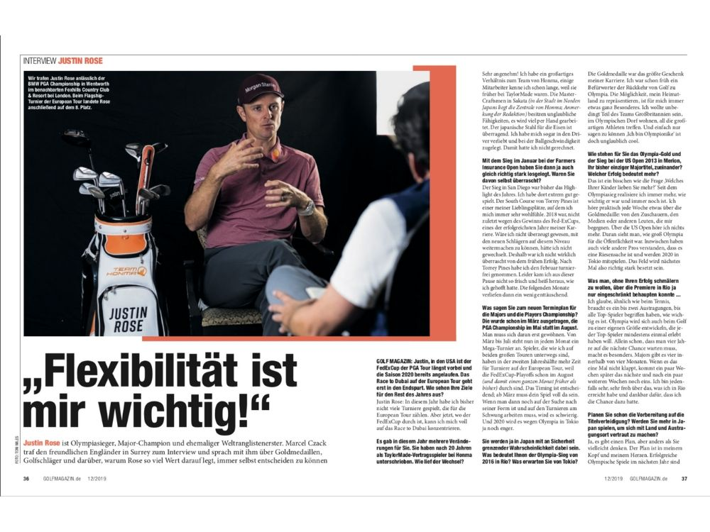 Justin Rose im Interview
