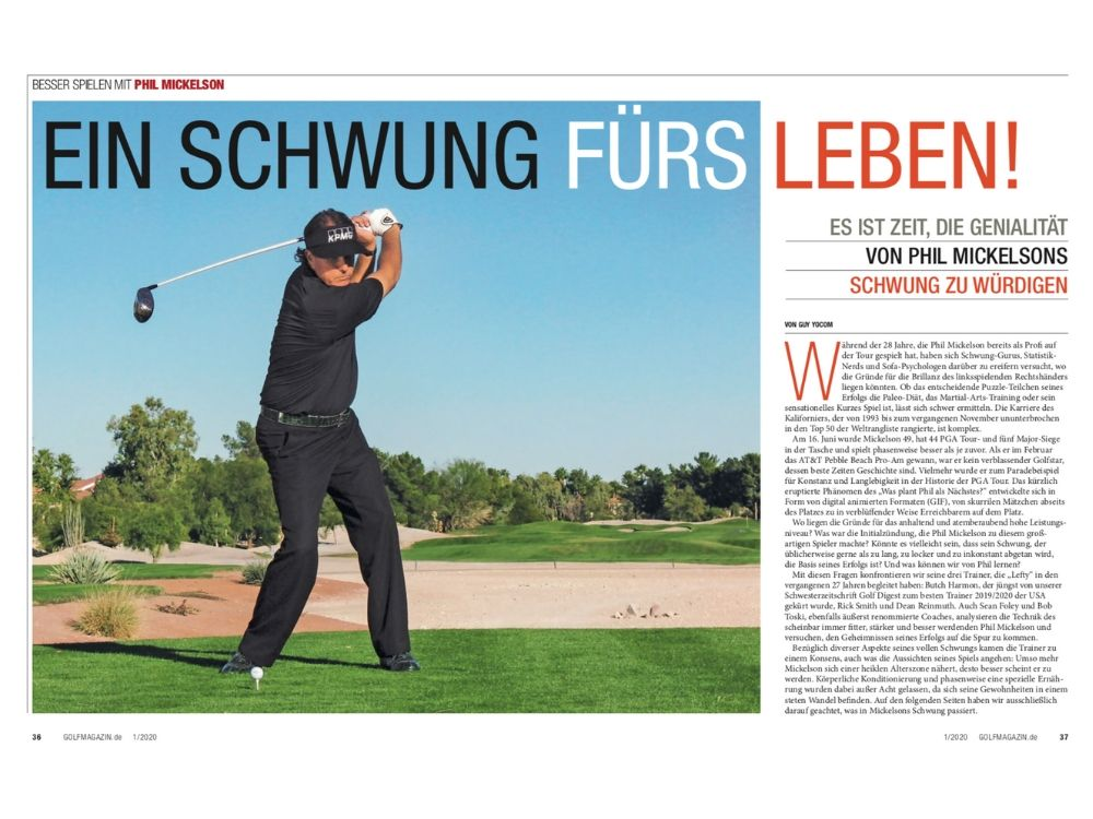 GOLF MAGAZIN Januar 2020 Phil Mickelson