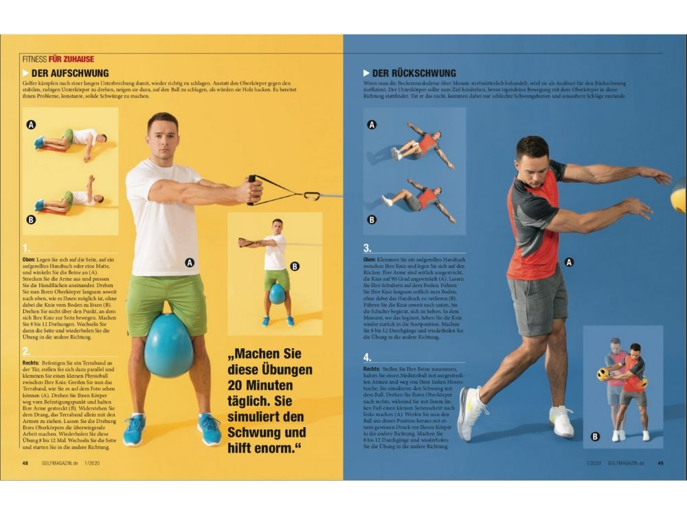 GOLF MAGAZIN Januar 2020 Fitness