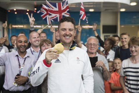 Der Engländer Justin Rose gewann in Rio bei den Olympischen Spielen 2016 die Goldmedaille