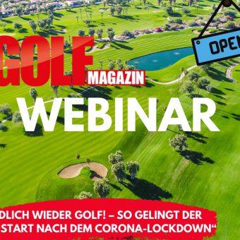 Webinar: Endlich wieder Golf – so gelingt der Neustart