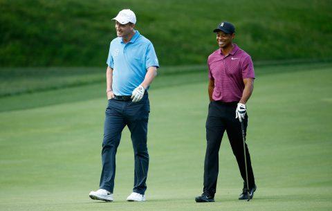 Tiger Woods und Football-Star Peyton Manning sind bereits länger gut befreundet. Bei The Match II gehen die beiden als Team gegen Phil Mickelson und Tom Brady an den Start.