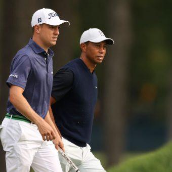 Justin Thomas und Tiger Woods spielten bei der US Open 2020 in der ersten Runde zusammen. (Foto: Getty Images).