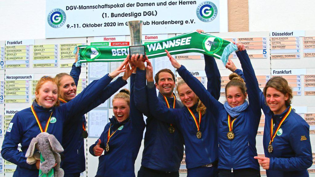 Die Deutschen Mannschaftsmeister 2020 der Damen: Das Team vom GLC Berlin-Wannsee (Foto: DGV/stebl)