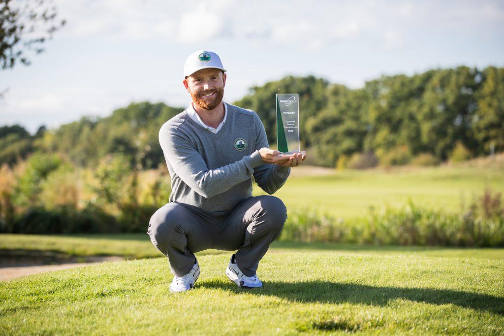 """""""Es ist ein tolles Gefühl, wieder ein Turnier zu gewinnen"""", sagt Philipp Mejow, der das Finale der Pro Golf Tour im Castanea Golf Resort Adendorf souverän für sich entscheiden konnte (Foto: Stefan Heigl(Pro Golf Tour)."""