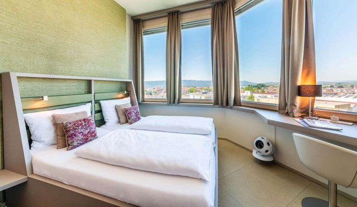 Golfen am Bodensee: Zimmer im Hotel Aquaturm.