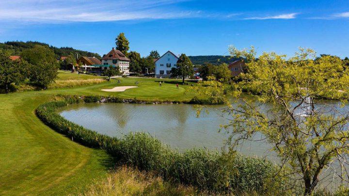 Golfen am Bodensee: Golfclub Owingen-Überlingen - Loch 18.