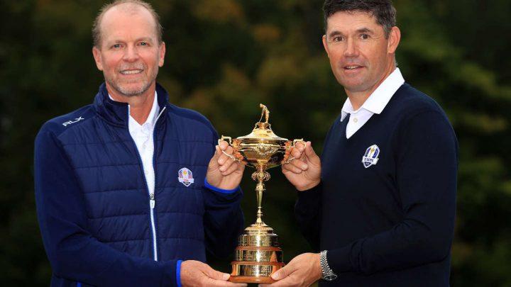 Kommt es zum Duell beim Ryder Cup? Steve Stricke (USA) und Padraig Harrington (Europa,re)