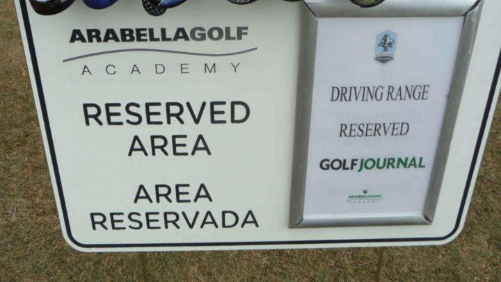 Abgesperrter Bereich für den Golf Journal Test: Range Golf Son Muntaner