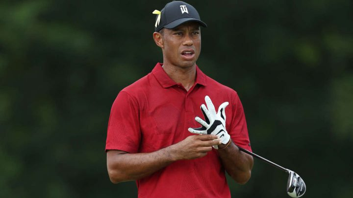 Spielte erstmals nach der Corona Pause: Tiger Woods
