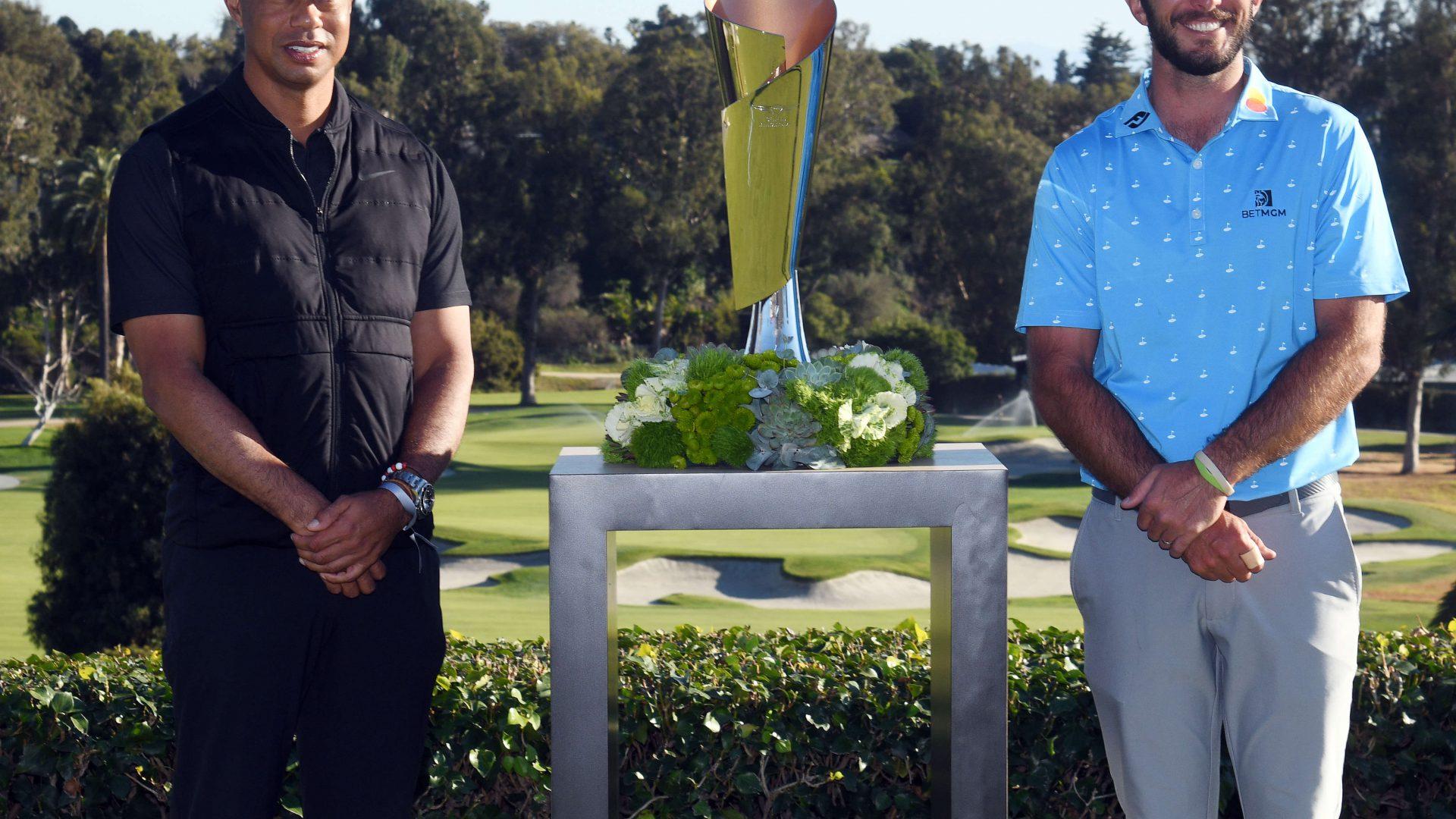 Genesis Invitational 2021, Sieger Max Homa mit Tiger Woods, Riviera Country Club, Los Angeles, PGA Tour