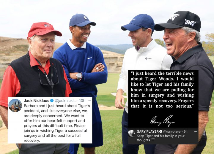 tiger woods- gary player-jack nicklaus-autounfall-2021, Los Angeles, Kalifornien
