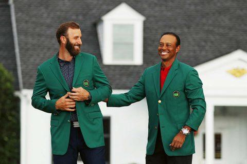 Dj mit TIger Woods Augusta