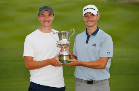 tour news–nicolai-hojgaard-of-denmark-poses-for-a-photo-with-his-brother-ramus-hojgaard-of-denmark-and-the-trophy-during-day-four-of-the-italian-open-at-marco-simone-golf-club-on-september-05-2021-in-rome-italy.jpg